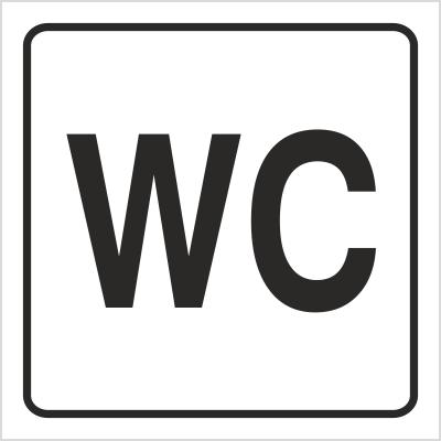 Znak Toaleta (702-90)