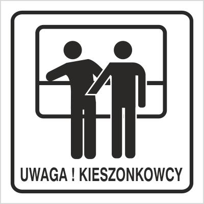 Znak Uwaga kieszonkowcy (702-91)