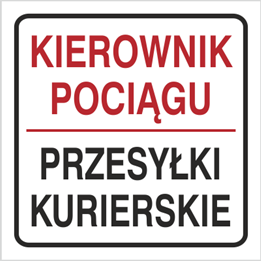 Obrazek dla kategorii Znak Kierownik pociągu Przesyłki kurierskie (702-95)