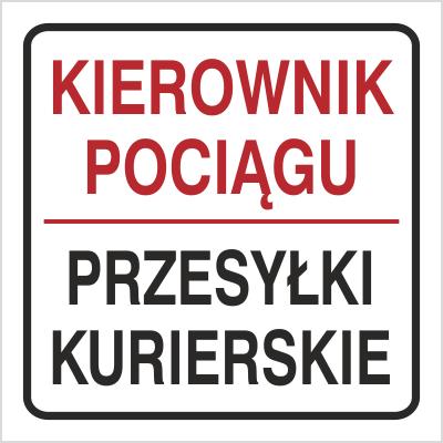 Znak Kierownik pociągu Przesyłki kurierskie (702-95)