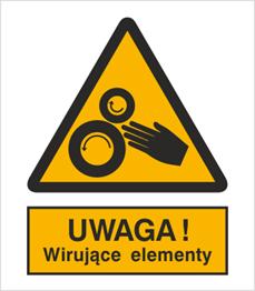 Obrazek dla kategorii Znak Uwaga! Wirujące elementy (331)