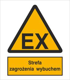 Obrazek dla kategorii Znak Strefa zagrożenia wybuchem (332)