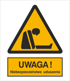 Obrazek dla kategorii Znak Uwaga! Niebezpieczeństwo uduszenia (334)