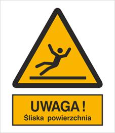 Obrazek dla kategorii Znak Ostrzeżenie przed śliską powierzchnią (335)