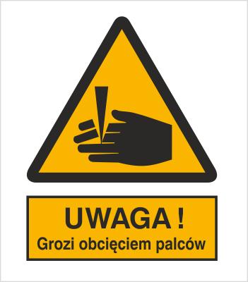 Znak Ostrzeżenie przed obcięciem palców (336)