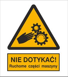 Obrazek dla kategorii Znak Nie dotykać. Ruchome części maszyny (337-01)