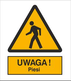 Obrazek dla kategorii Znak Ostrzeżenie przed pieszymi (338)