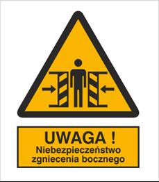 Obrazek dla kategorii Znak Ostrzeżenie przed zgnieceniem (339)