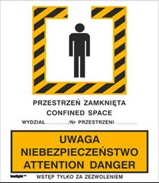 Obrazek dla kategorii Znak Uwaga niebezpieczeństwo. Attention danger (340)