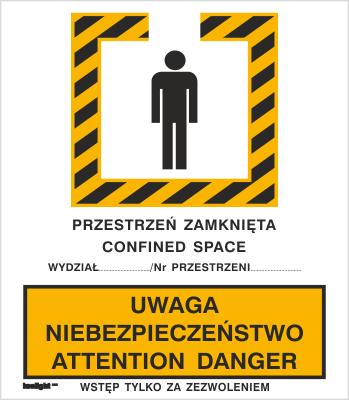 Znak Uwaga niebezpieczeństwo. Attention danger (340)