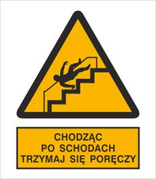 Obrazek dla kategorii Znak Ostrzeżenie przed niebezpieczeństwem upadku na schodach (341)