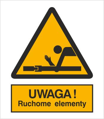 Znak Ostrzeżenie przed ruchomymi elementami (345)
