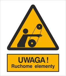 Obrazek dla kategorii Znak Ostrzeżenie przed ruchomymi elementami (346)