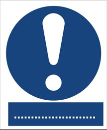 Obrazek dla kategorii Znaki nakazu BHP z opisem