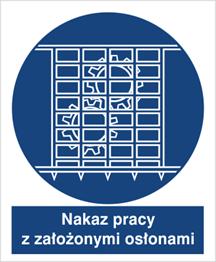 Obrazek dla kategorii Znak Nakaz pracy z nałożonymi osłonami (414-01)