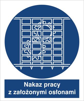 Znak Nakaz pracy z nałożonymi osłonami (414-01)