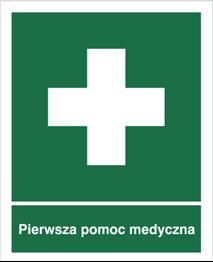 Obrazek dla kategorii Znak Pierwsza pomoc medyczna (501-01)