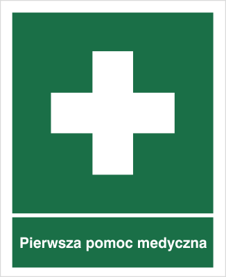 Znak Pierwsza pomoc medyczna (501-01)
