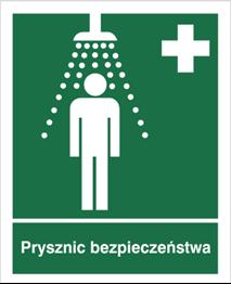 Obrazek dla kategorii Znak Prysznic bezpieczeństwa (502)