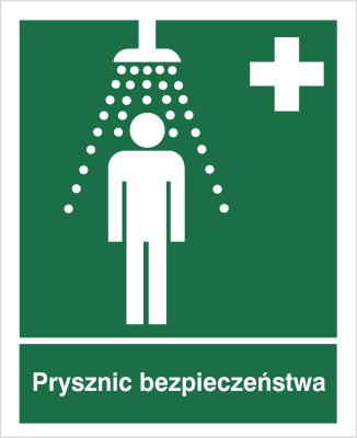 Znak Prysznic bezpieczeństwa (502)