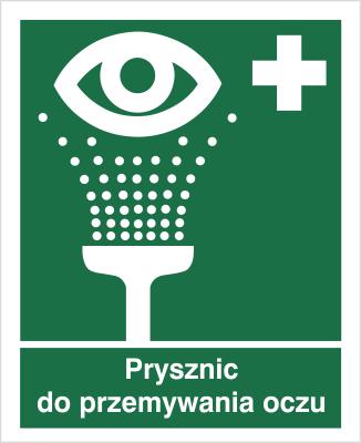 Znak Prysznic do przemywania oczu (503)