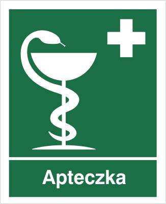Znak informacyjny apteczka (z opisem) (507)