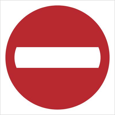 Znak Zakaz wjazdu (702-01)