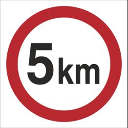 Obrazek dla kategorii Znak Ograniczenie prędkości do 5 km (702-02)