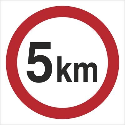 Znak Ograniczenie prędkości do 5 km (702-02)
