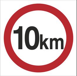 Obrazek dla kategorii Znak Ograniczenie prędkości do 10 km (702-03)