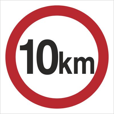 Znak Ograniczenie prędkości do 10 km (702-03)