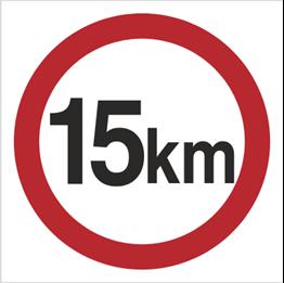 Obrazek dla kategorii Znak Ograniczenie prędkości do 15 km (702-04)