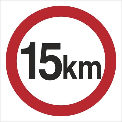 Znak Ograniczenie prędkości do 15 km (702-04)