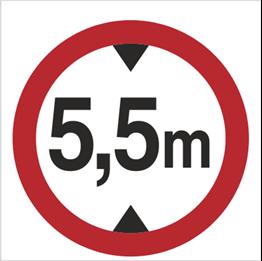 Obrazek dla kategorii Znak Zakaz wjazdu pojazdów o wysokości ponad … m (702-05)