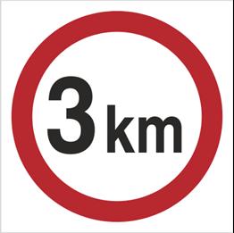 Obrazek dla kategorii Znak Ograniczenie prędkości do 3 km (702-06)
