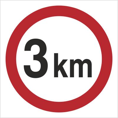 Znak Ograniczenie prędkości do 3 km (702-06)