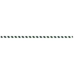 Obrazek Taśma fotoluminescencyjna w czarne pasy, ostrzegawcza  - arkusz 25x1000mm, paczka 10 szt.