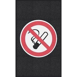 """Obrazek  Mata z logiem do śred. nat. ruchu """"Zakaz palenia"""" układ pionowy 90x150cm"""