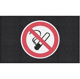 """Obrazek  Mata z logiem do śred. nat. ruchu """"Zakaz palenia"""" układ poziomy 90x150cm"""