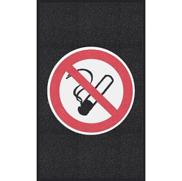 """Obrazek  Mata z logiem do dużego natężenia ruchu """"Zakaz palenia"""" układ pionowy 90x150cm"""