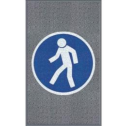 """Obrazek  Mata z logiem do dużego natężenia ruchu """"Dla pieszych"""" układ pionowy 90x150cm"""