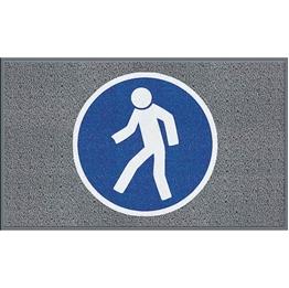 """Obrazek  Mata z logiem do dużego natężenia ruchu """"Dla pieszych"""" układ poziomy 90x150cm"""