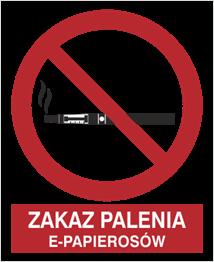 Obrazek dla kategorii Zakaz Palenia E-Papierosów (209-17)