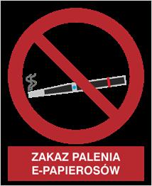 Obrazek dla kategorii Zakaz Palenia E-Papierosów (209-20)
