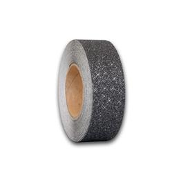 Obrazek Antypoślizgowa taśma brokatowa czarno-srebrna - rolka 50mm x 18.3m