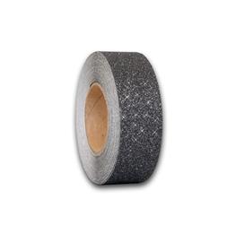 Obrazek Antypoślizgowa taśma brokatowa czarno-srebrna - rolka 100mm x 18.3m