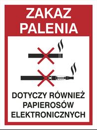 Obrazek dla kategorii Zakaz palenia również papierosów elekt. (209-21)