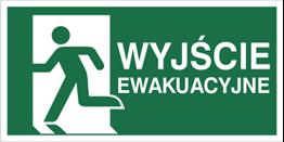 Obrazek dla kategorii Znak wyjście ewakuacyjne w lewo wg pn-en iso 7010 (E01-WE)