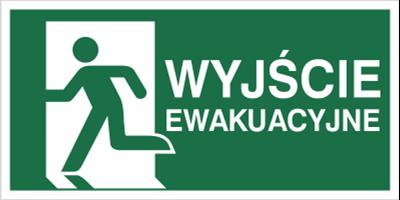 Znak wyjście ewakuacyjne w lewo wg pn-en iso 7010 (E01-WE)