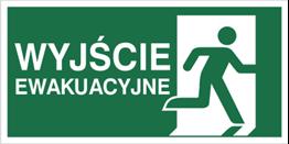 Obrazek dla kategorii Znak Wyjście ewakuacyjne w prawo (E02-WE)